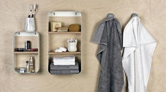 Des accessoires pour une salle de bain bien rangée