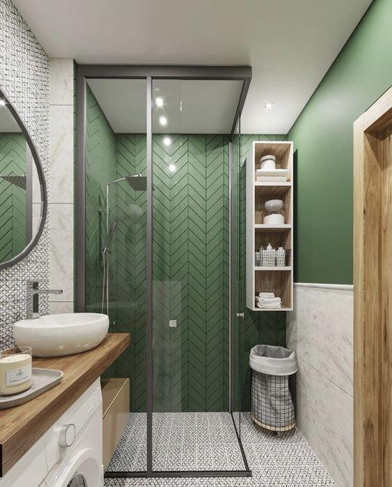 10 id es intemporelles de couleurs pour votre salle de bain - Couleur tendance pour salle de bain ...