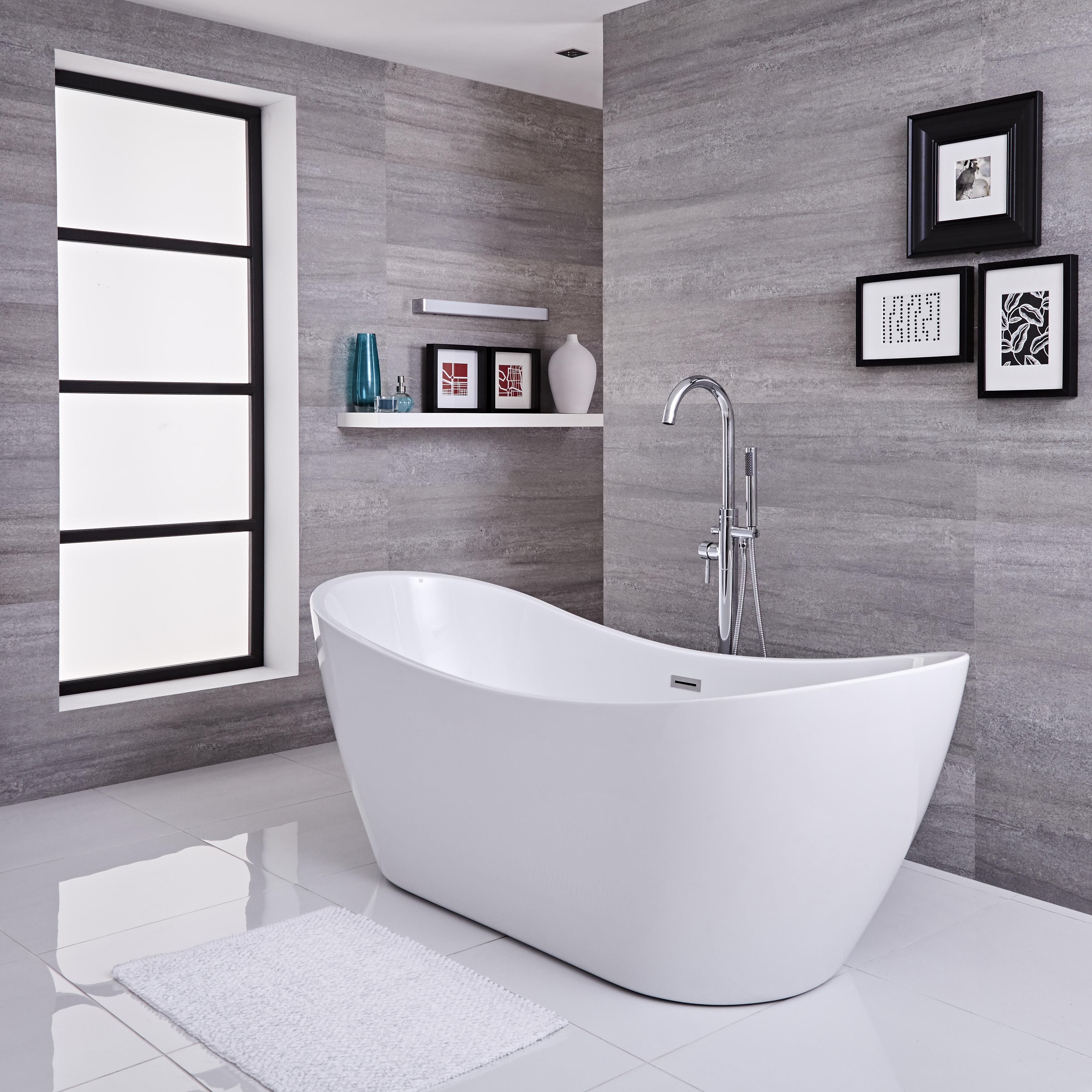Robinet de baignoire Autoportante Ilot Bain M/élangeur Mitigeur de Baignoire /Îlot sur Pied blond