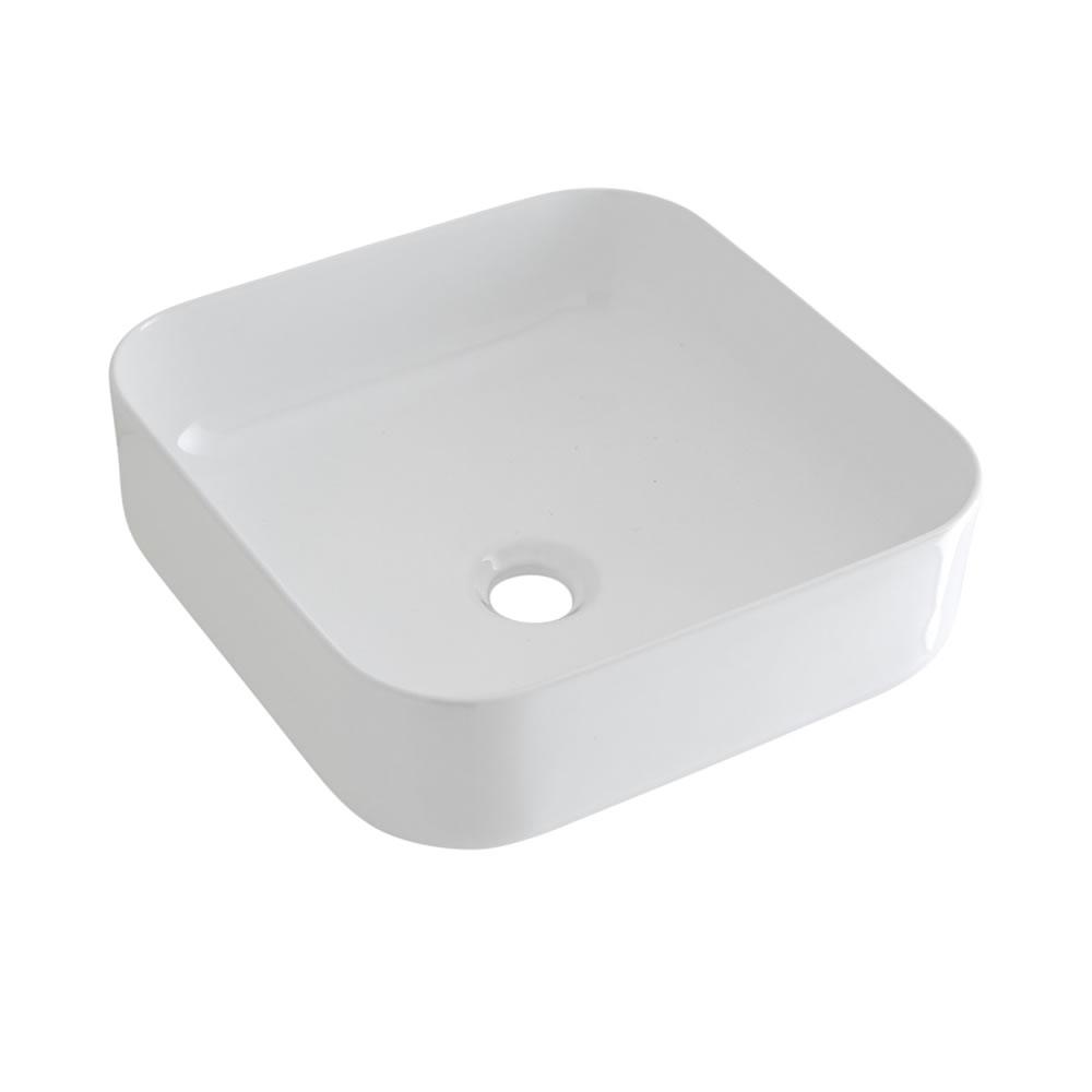 Vasque à poser carrée – 36 cm x 36 cm – Milton & Mitigeur haut - Parade