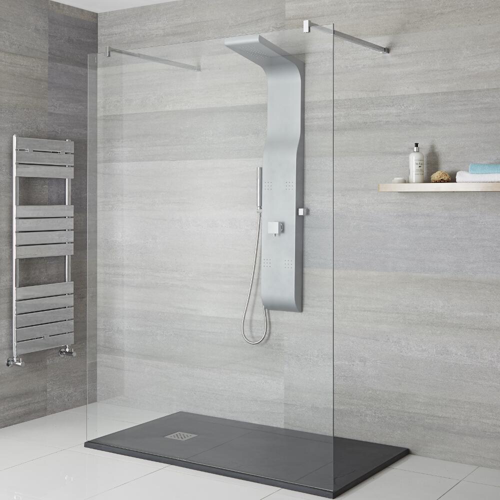 Douches Colonne de douche mitigeur mécanique - Argent mat - Alston