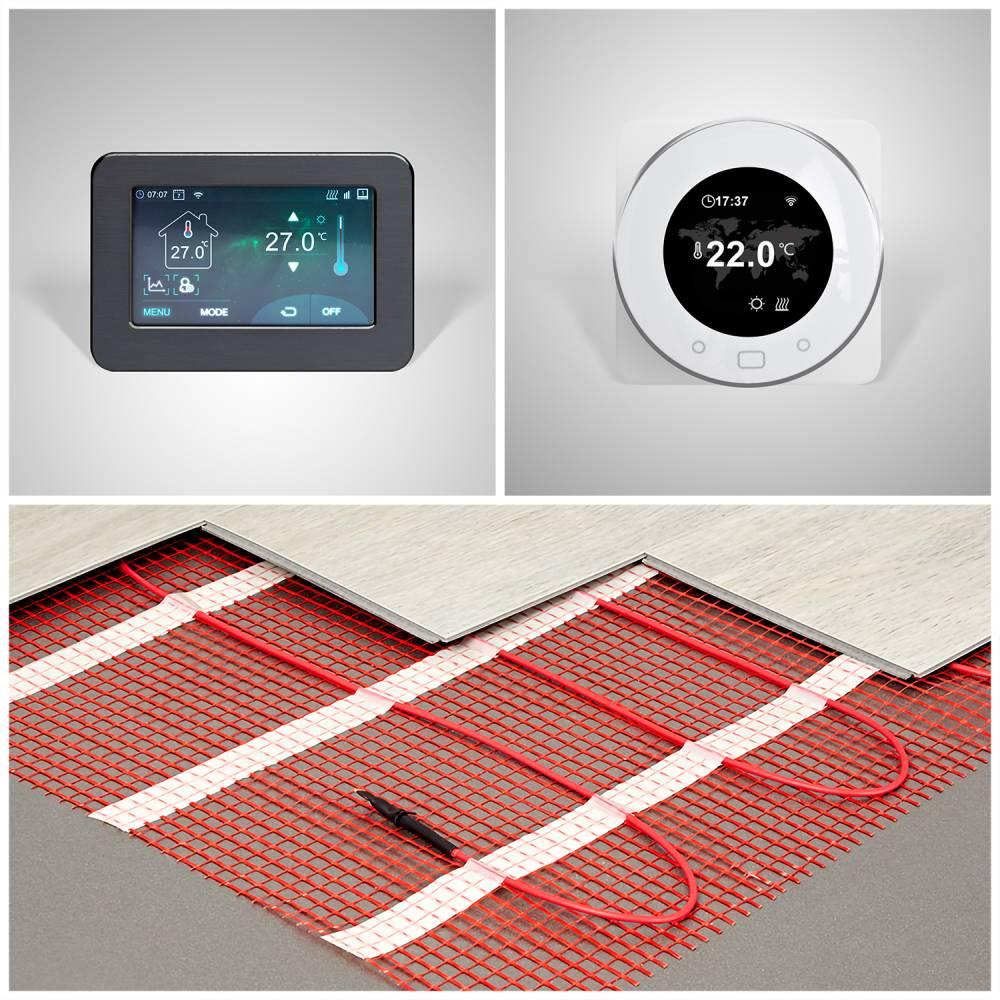 Radiateurs Kit chauffage au sol électrique – Choix de taille et de thermostat