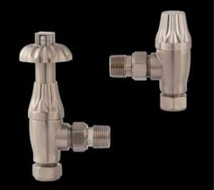 Hudson Reed Robinets de Radiateur Rétro Design Thermostatique en nickel